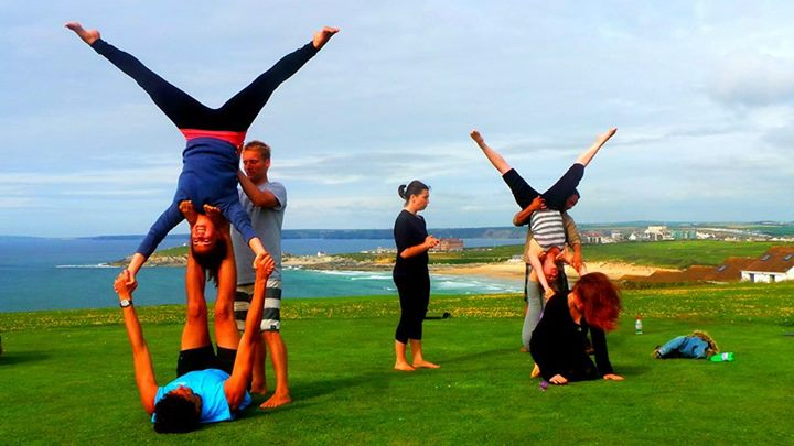 Acro Yoga at Oceanflow Yoga Studio in Newquay, Cornwall