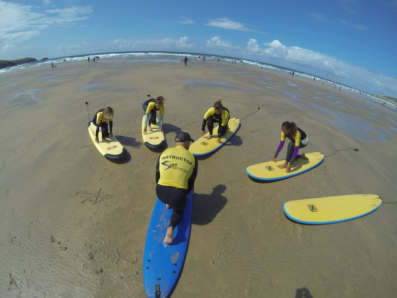 Surf Yoga at Oceanflow Yoga Studio Newquay, Cornwall