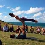Surf Yoga Newquay Cornwall Oceanflow Yoga AcroYoga
