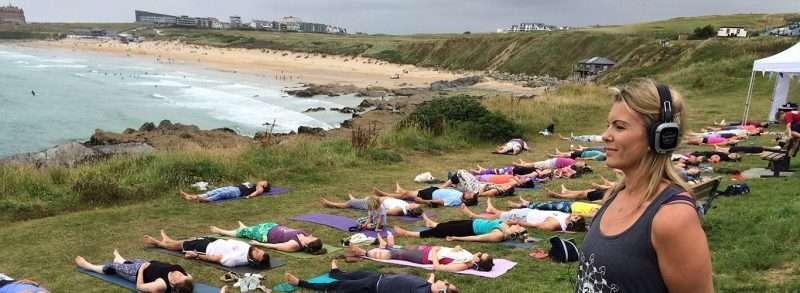 Silent Disco Yoga - Newquay Cornwall
