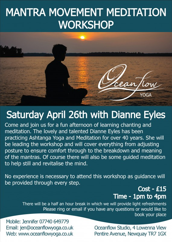 Oceanflow Yoga Newquay Cornwall Movement Meditation Manta Workshop