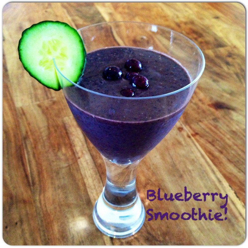 Blueberry smoothie recipe oceanflow yoga newquay cornwall