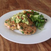 Salmon Burgers with Spicy Guacamole
