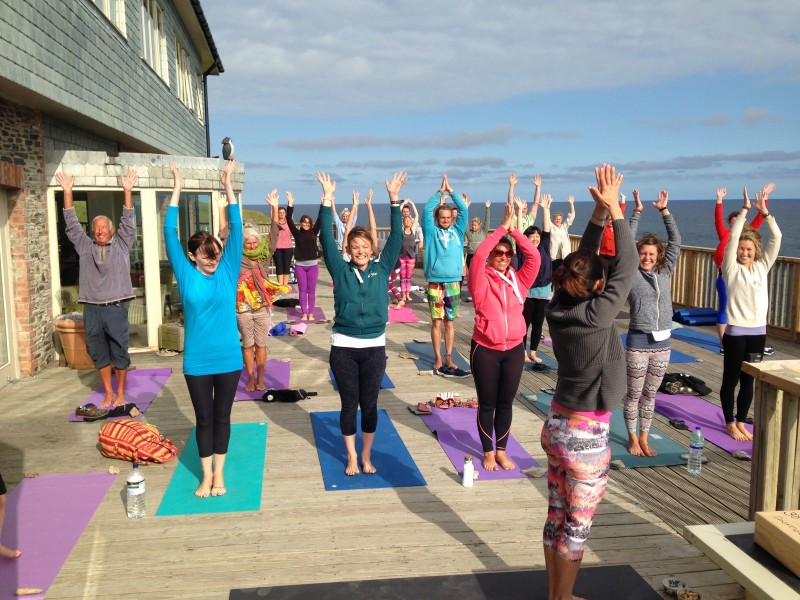 Big Free Yoga Day at Oceanflow Yoga in Newquay Cornwall
