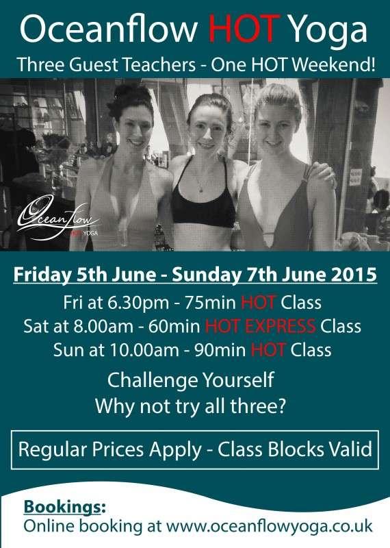 Hot Yoga Newquay Cornwall Weekend classes bikram
