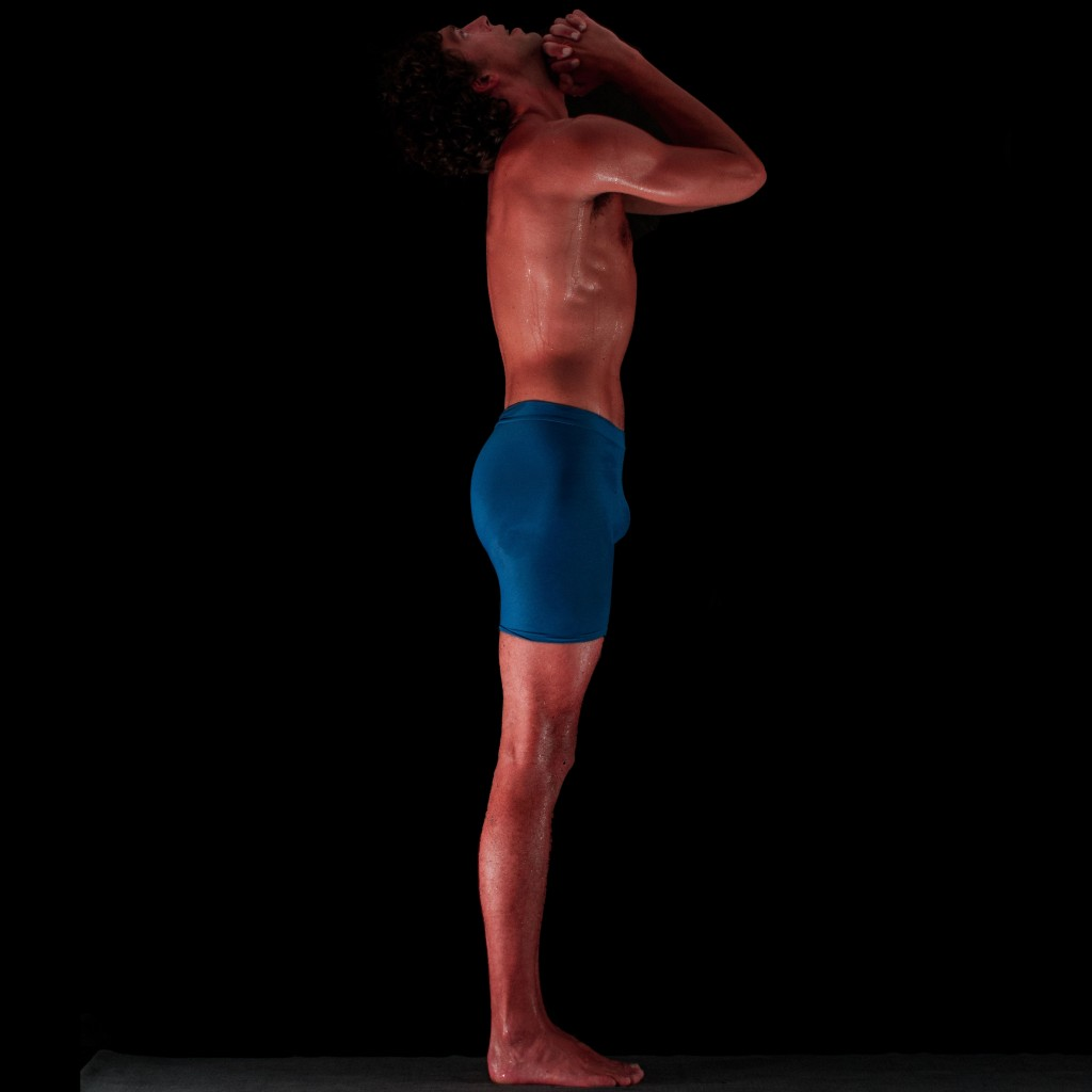 Pramyama deep breathing Bikram posture one