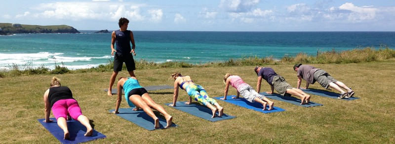 Oceanflow Hot Yoga Surf Retreat Weekend Newquay Cornwall holiday
