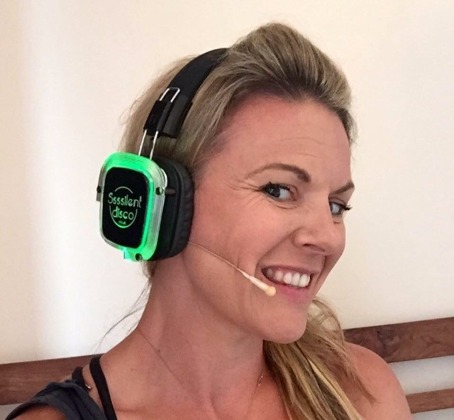 Jen Harvey Silent Disco Yoga UK