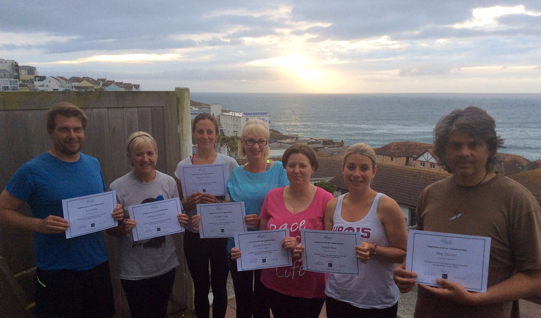 Oceanflow Yoga Newquay Cornwall Beginners yoga classes course academy