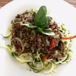 Creamy Courgetti Pasta healthy detox slimming gluten free food
