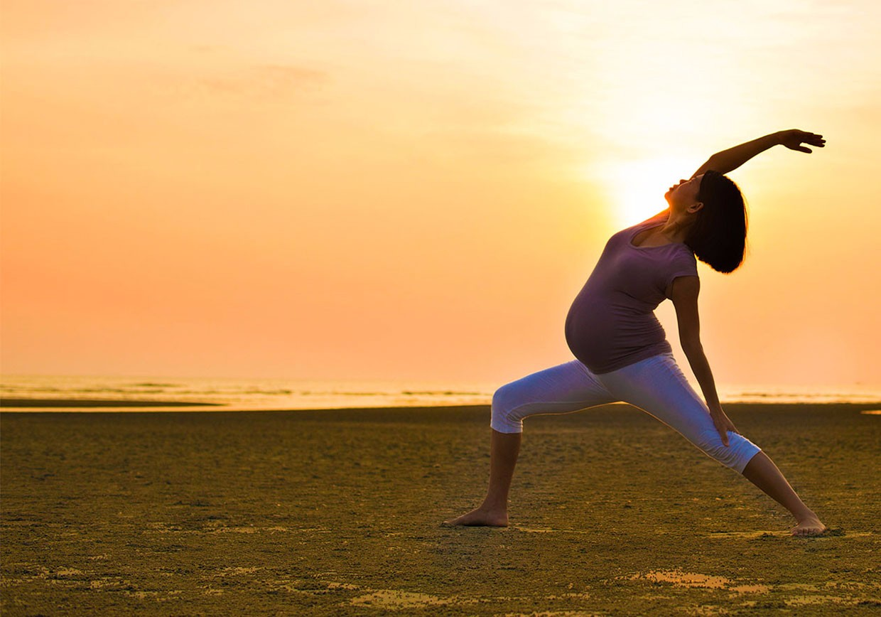 pregnancy yoga in Newquay Cornwall