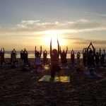 silent disco yoga fistral beach newquay cornwall