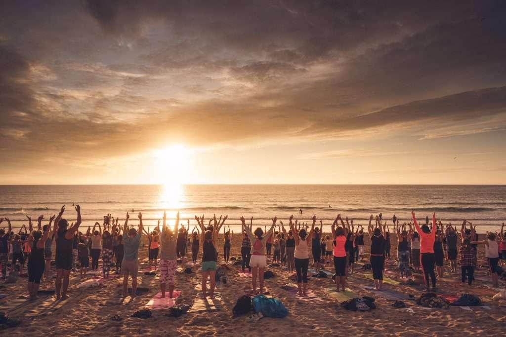 silent disco yoga newquay cornwal