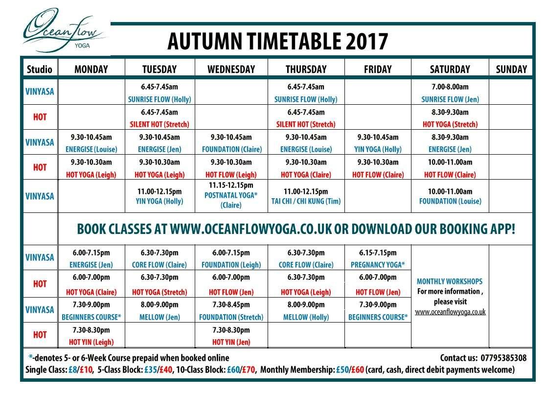 Yoga tai chi newquay timetable classes studio cornwall vinyasa bikram yin restorative hot ashtanga retreats workshop