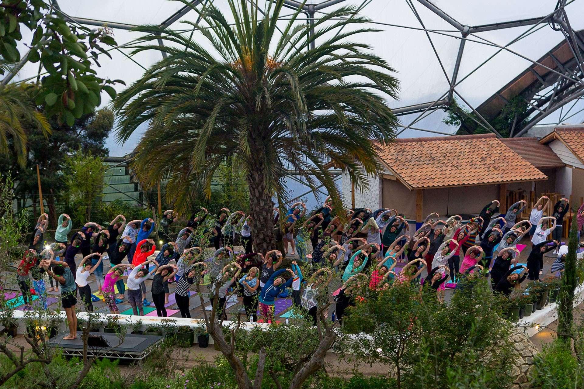 Silent Disco Yoga Eden Project UK