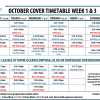 Temporary Timetable Changes in October