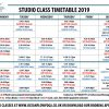New Class Timetable from Wednesday 2nd January 2019