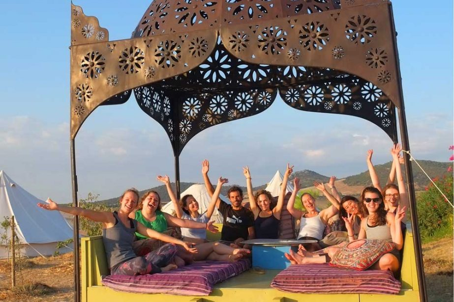 Group yoga retreat in europe
