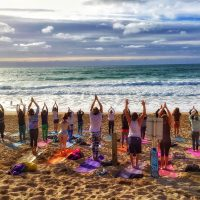 Pop-Up Silent Disco Yoga on Polkerris Beach! South Coast Session | Sunday 5th May 2019 | 3.00-4.15pm