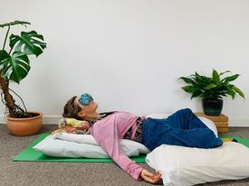 Restorative yoga nidra relaxing online workshop